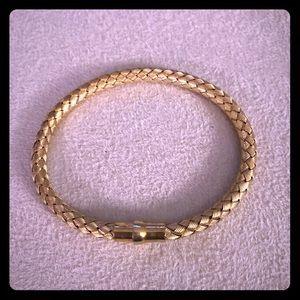 Jewelry - Woven gold bangle bracelet